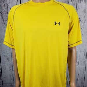 Under Armour Men's Yellow Shirt XL (M16)